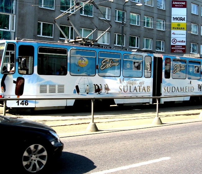 Balbiino Eskimo – üleni kleebitud tramm