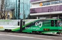Eesti Energia – üleni kleebitud tramm