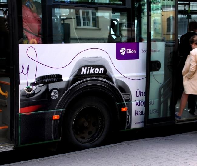 ELION e-pood NIKON – bussi ustepoolne külg