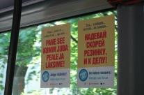 Kumm on SEKS – A3 kleebised bussis