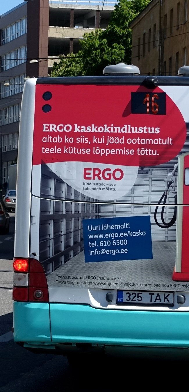 Ergo – kleebis bussi taga