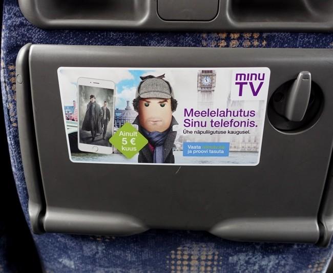 ELION Minu TV – sisereklaam bussis
