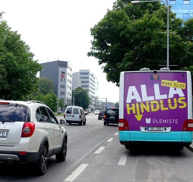 Ülemiste – kleebis bussi taga