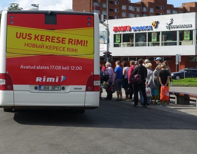 RIMI – kleebis bussi taga