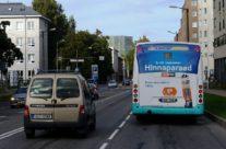 Ehituse ABC – reklaam bussi tagaküljel