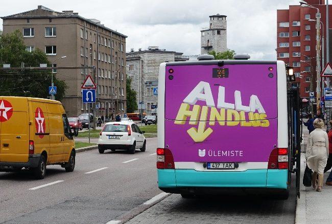 Ülemiste – reklaam bussi taga