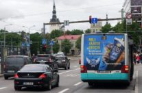 Vanilla Ninja jäätis – reklaam bussi tagaküljel