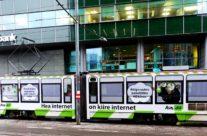 Telia Diil – tramm üleni reklaamkujunduses