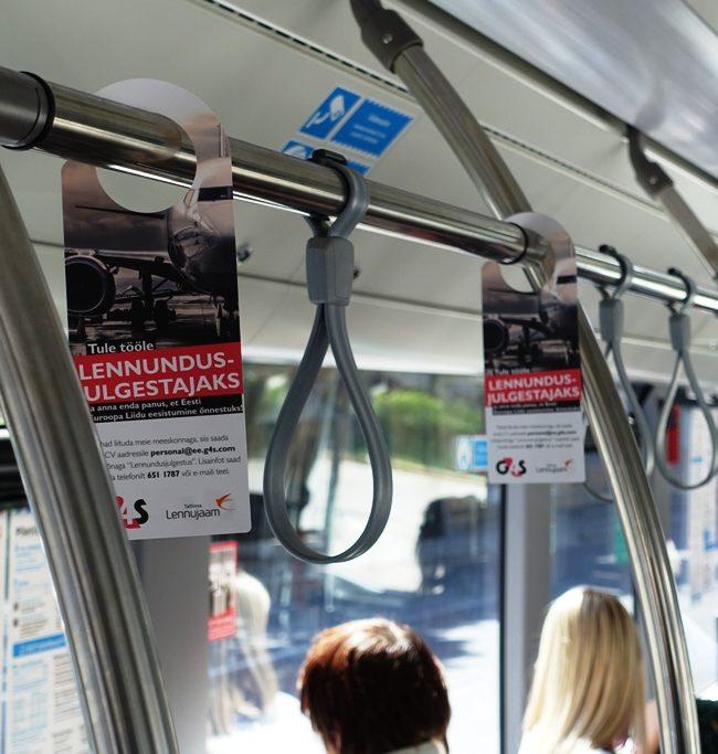 G4S – rippuvad reklaamid ühistranspordis