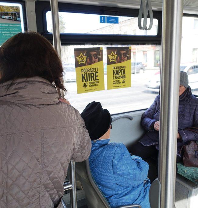 Super – kleebised ühistranspordis
