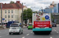 Viking Line – reklaam bussi tagaküljel