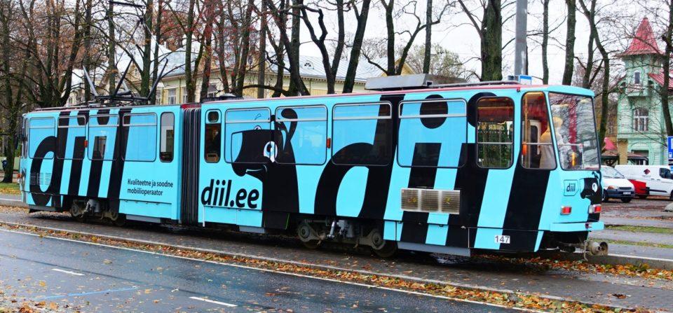 Telia Diil tramm üleni reklaamkujunduses