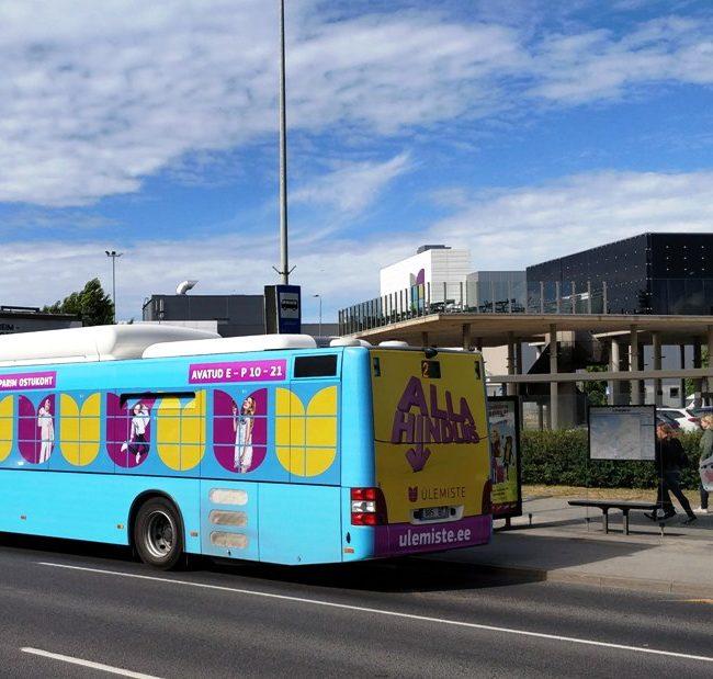 Ülemiste – buss üleni reklaamkujunduses