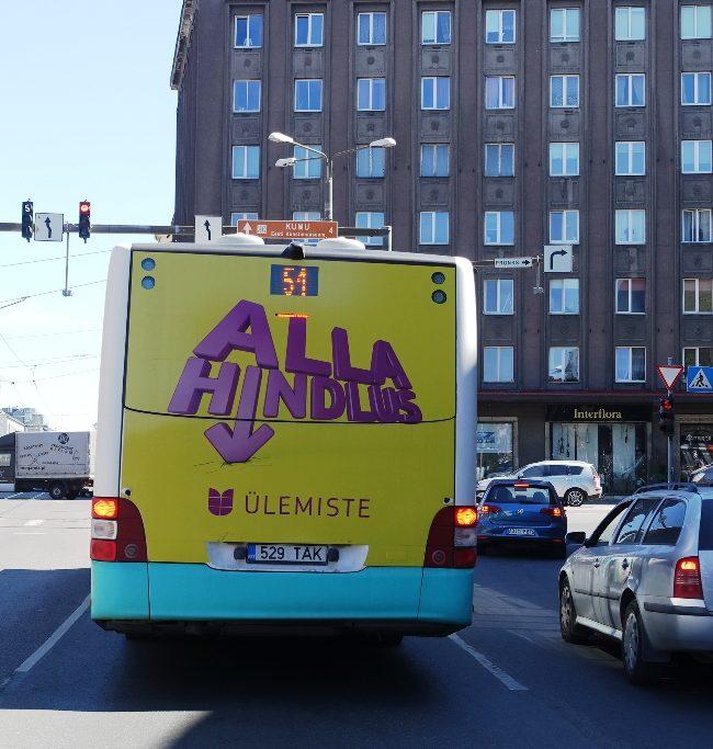 Ülemiste – reklaam bussil