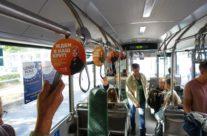 Circle K – rippuvad reklaamid bussi sees