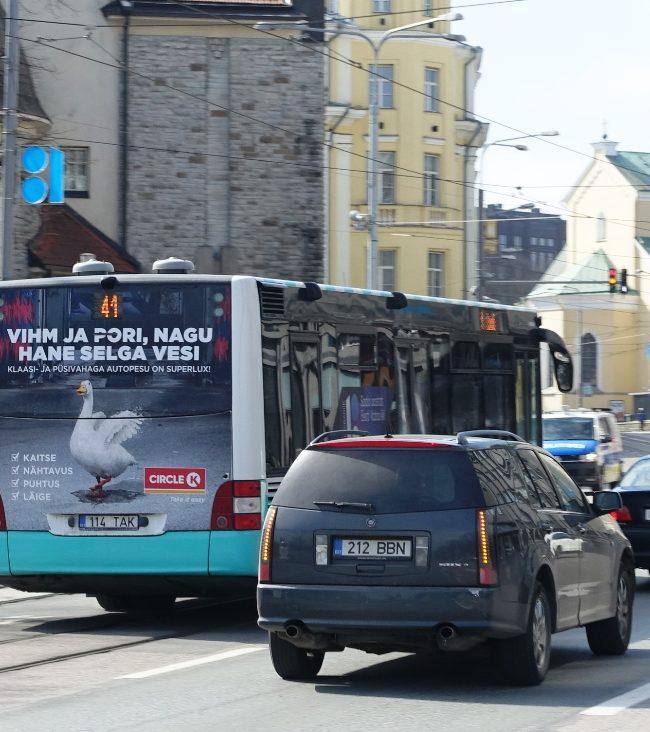 Circle K – reklaam bussidel