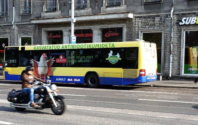 Kekava – reklaam ühistranspordil