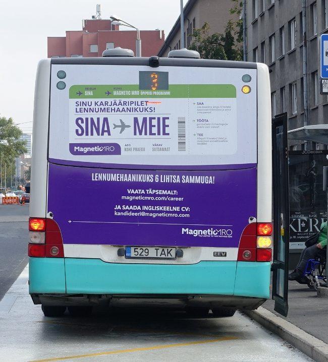 Magnetic MRO – reklaam ühistranspordil