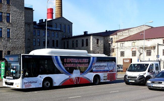 Parodontax – buss üleni reklaamkujunduses