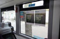 BigBank – kleebised bussis sees aknal