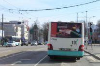 Colgate – bussireklaam, pool tagakülge