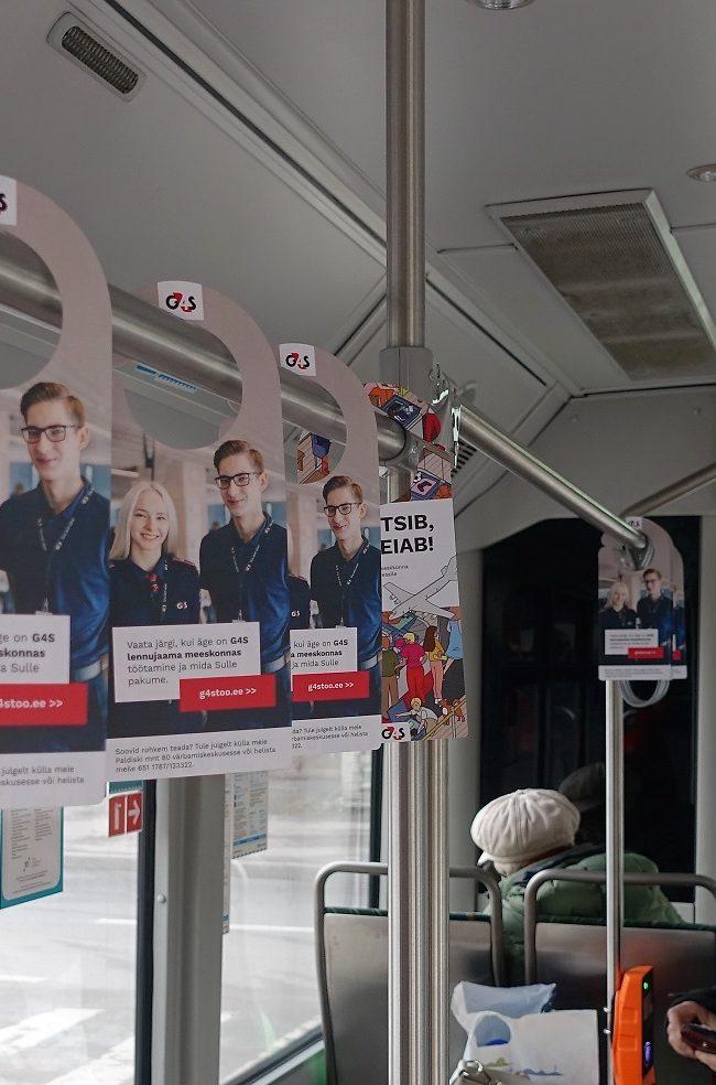 G4S – sisereklaam ühistranspordis