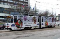 Lido – tramm üleni reklaamkujunduses