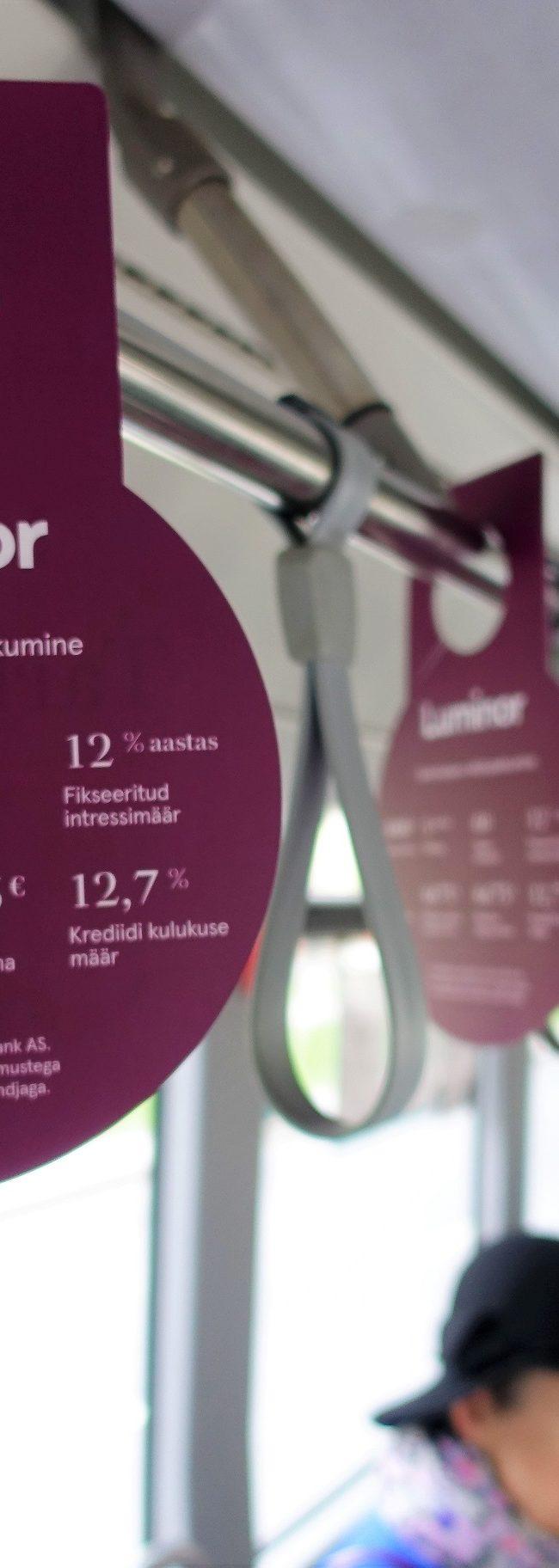 Luminor – reklaamid ümber torude, bussireklaam