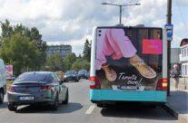 NS King – bussireklaam, reklaam bussi tagaküljel