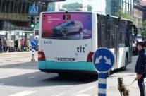 VW ID – reklaam bussi tagaküljel