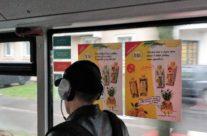 Aura – reklaam bussis