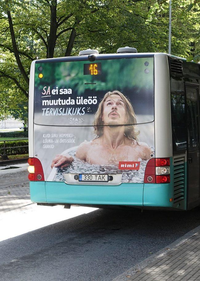 Rimi – reklaam bussil