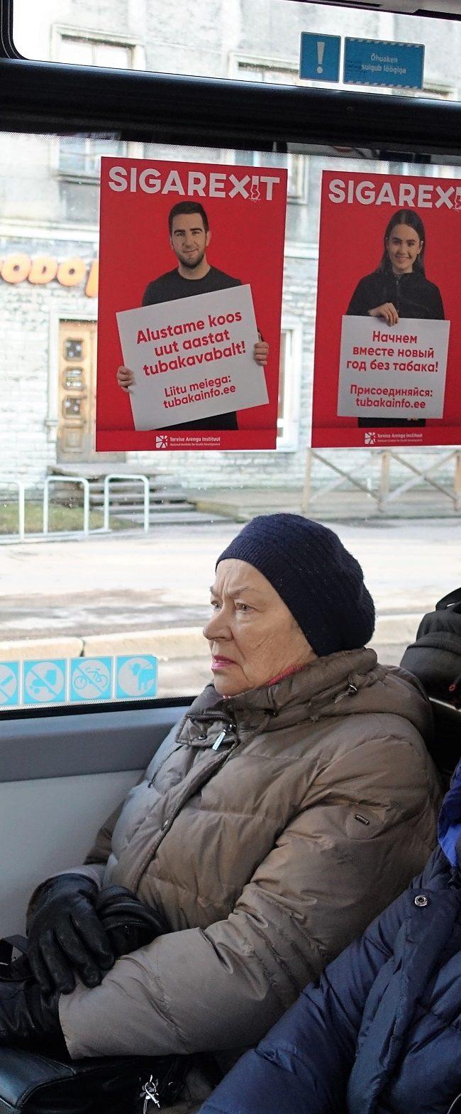 Sigarexit – kleebised bussides