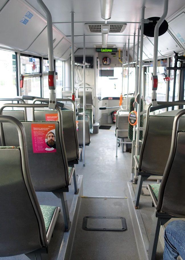 Omniva – reklaam ühistranspordis
