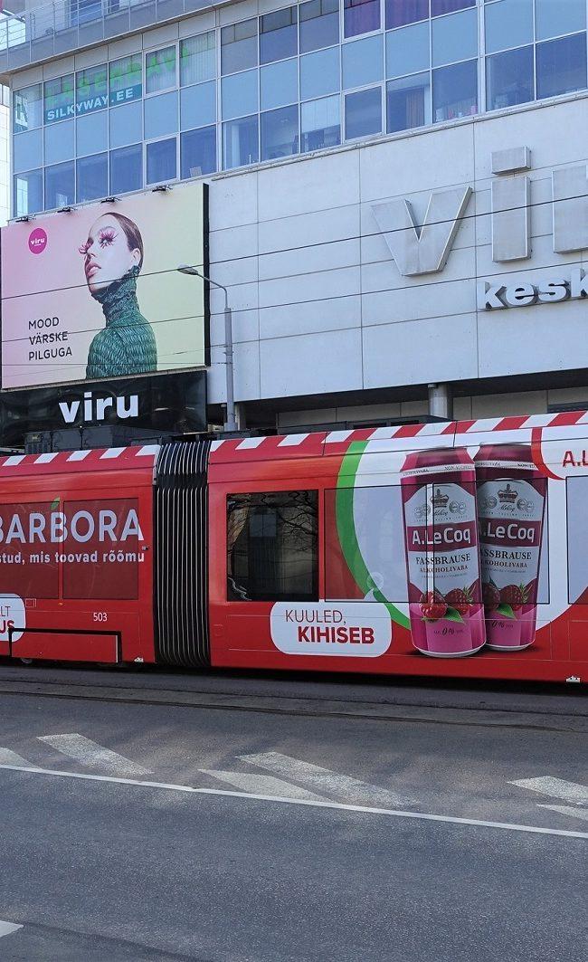 Barbora – üleni kleebitud reklaamtramm