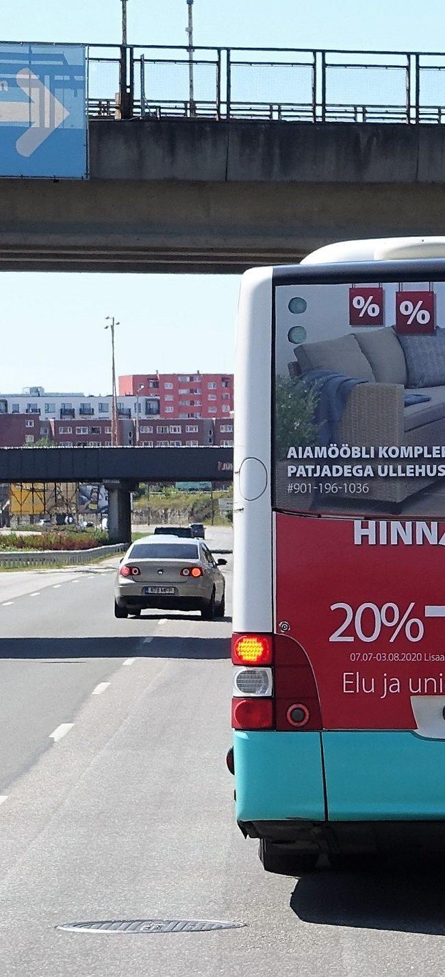 JYSK – reklaam bussi tagumisel küljel