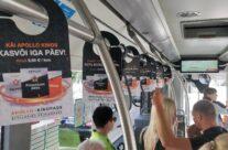 Apollo – rippuvad reklaamid ühistranspordis