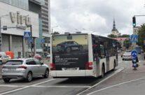 AUDI – reklaam bussi tagumisel küljel